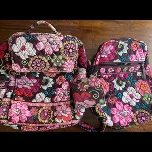 Vera Bradley Bags - Vera Bradley Retired Mod Floral Pink Bags(set)